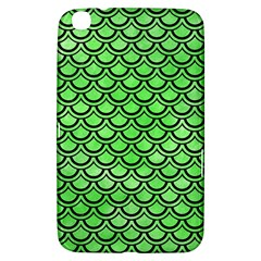 Scales2 Black Marble & Green Watercolor (r) Samsung Galaxy Tab 3 (8 ) T3100 Hardshell Case
