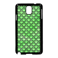 Scales2 Black Marble & Green Watercolor (r) Samsung Galaxy Note 3 Neo Hardshell Case (black)