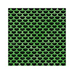 Scales3 Black Marble & Green Watercolor Acrylic Tangram Puzzle (6  X 6 )