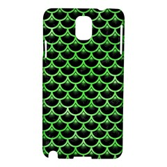 Scales3 Black Marble & Green Watercolor Samsung Galaxy Note 3 N9005 Hardshell Case