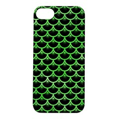 Scales3 Black Marble & Green Watercolor Apple Iphone 5s/ Se Hardshell Case