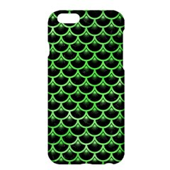 Scales3 Black Marble & Green Watercolor Apple Iphone 6 Plus/6s Plus Hardshell Case