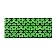 Scales3 Black Marble & Green Watercolor (r) Cosmetic Storage Cases