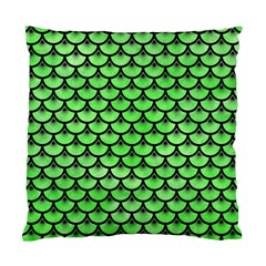 Scales3 Black Marble & Green Watercolor (r) Standard Cushion Case (one Side)