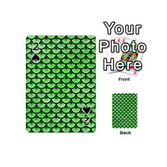 Scales3 Black Marble & Green Watercolor (r) Playing Cards 54 (mini)