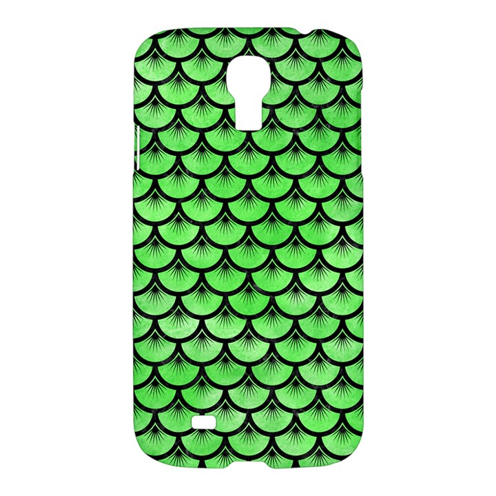 SCALES3 BLACK MARBLE & GREEN WATERCOLOR (R) Samsung Galaxy S4 I9500/I9505 Hardshell Case