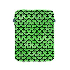 Scales3 Black Marble & Green Watercolor (r) Apple Ipad 2/3/4 Protective Soft Cases