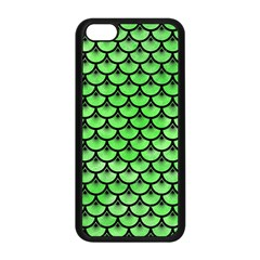 Scales3 Black Marble & Green Watercolor (r) Apple Iphone 5c Seamless Case (black)