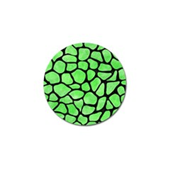 Skin1 Black Marble & Green Watercolor Golf Ball Marker (10 Pack)