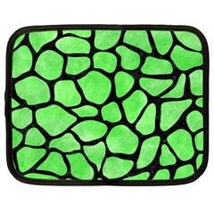 Skin1 Black Marble & Green Watercolor Netbook Case (xxl)