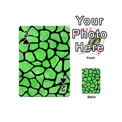 Skin1 Black Marble & Green Watercolor Playing Cards 54 (mini)