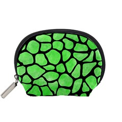 Skin1 Black Marble & Green Watercolor Accessory Pouches (small)