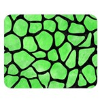 SKIN1 BLACK MARBLE & GREEN WATERCOLOR Double Sided Flano Blanket (Large)  80 x60 Blanket Front