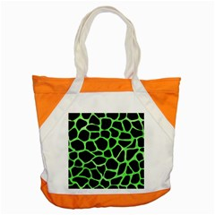 Skin1 Black Marble & Green Watercolor (r) Accent Tote Bag