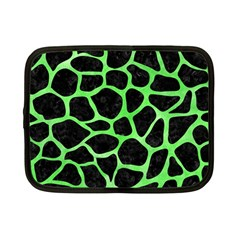 Skin1 Black Marble & Green Watercolor (r) Netbook Case (small)