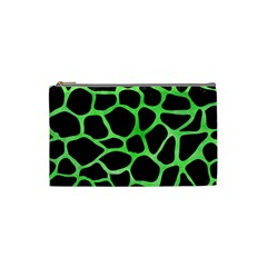 Skin1 Black Marble & Green Watercolor (r) Cosmetic Bag (small)