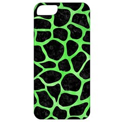 Skin1 Black Marble & Green Watercolor (r) Apple Iphone 5 Classic Hardshell Case