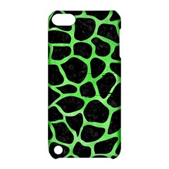 Skin1 Black Marble & Green Watercolor (r) Apple Ipod Touch 5 Hardshell Case With Stand
