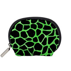 Skin1 Black Marble & Green Watercolor (r) Accessory Pouches (small)