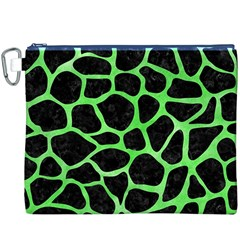 Skin1 Black Marble & Green Watercolor (r) Canvas Cosmetic Bag (xxxl)
