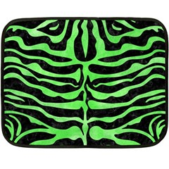 Skin2 Black Marble & Green Watercolor Fleece Blanket (mini)