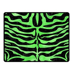 Skin2 Black Marble & Green Watercolor Fleece Blanket (small)