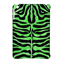 Skin2 Black Marble & Green Watercolor Apple Ipad Mini Hardshell Case (compatible With Smart Cover)