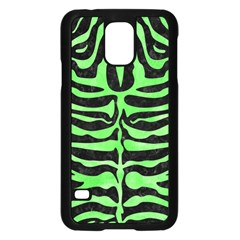 Skin2 Black Marble & Green Watercolor Samsung Galaxy S5 Case (black)