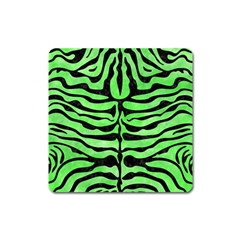 Skin2 Black Marble & Green Watercolor (r) Square Magnet