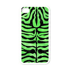 Skin2 Black Marble & Green Watercolor (r) Apple Iphone 4 Case (white)