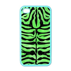 Skin2 Black Marble & Green Watercolor (r) Apple Iphone 4 Case (color)