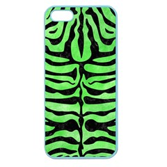 Skin2 Black Marble & Green Watercolor (r) Apple Seamless Iphone 5 Case (color)