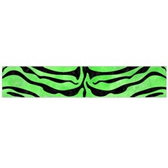 Skin2 Black Marble & Green Watercolor (r) Flano Scarf (large)