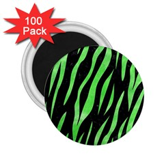 Skin3 Black Marble & Green Watercolor 2 25  Magnets (100 Pack)