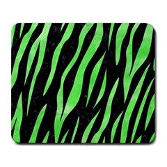 Skin3 Black Marble & Green Watercolor Large Mousepads