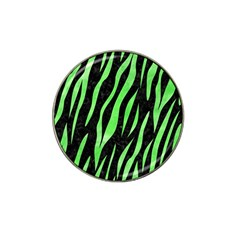 Skin3 Black Marble & Green Watercolor Hat Clip Ball Marker (10 Pack)