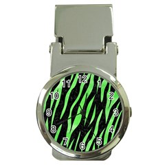 Skin3 Black Marble & Green Watercolor Money Clip Watches