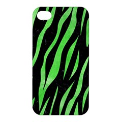 Skin3 Black Marble & Green Watercolor Apple Iphone 4/4s Premium Hardshell Case