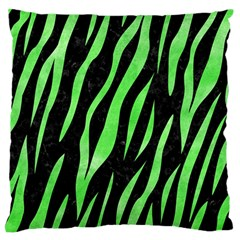 Skin3 Black Marble & Green Watercolor Large Flano Cushion Case (two Sides)