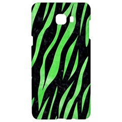 Skin3 Black Marble & Green Watercolor Samsung C9 Pro Hardshell Case