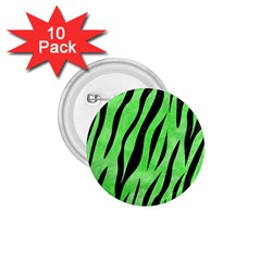 Skin3 Black Marble & Green Watercolor (r) 1 75  Buttons (10 Pack)