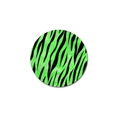 Skin3 Black Marble & Green Watercolor (r) Golf Ball Marker (10 Pack)