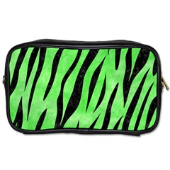 Skin3 Black Marble & Green Watercolor (r) Toiletries Bags 2 Side