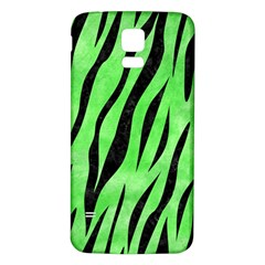 Skin3 Black Marble & Green Watercolor (r) Samsung Galaxy S5 Back Case (white)