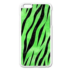 Skin3 Black Marble & Green Watercolor (r) Apple Iphone 6 Plus/6s Plus Enamel White Case