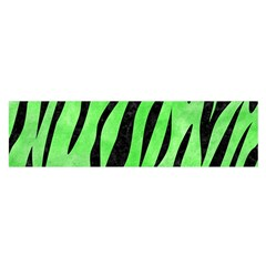 Skin3 Black Marble & Green Watercolor (r) Satin Scarf (oblong)