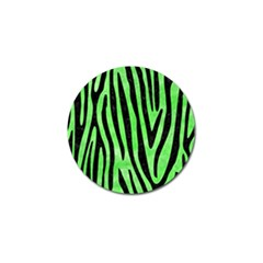 Skin4 Black Marble & Green Watercolor Golf Ball Marker (10 Pack)