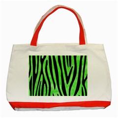 Skin4 Black Marble & Green Watercolor Classic Tote Bag (red)