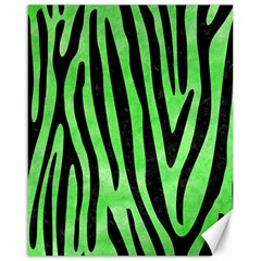 Skin4 Black Marble & Green Watercolor Canvas 16  X 20