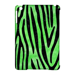 Skin4 Black Marble & Green Watercolor Apple Ipad Mini Hardshell Case (compatible With Smart Cover)